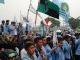 Unjuk rasa mahasiswa Unri di Chevron