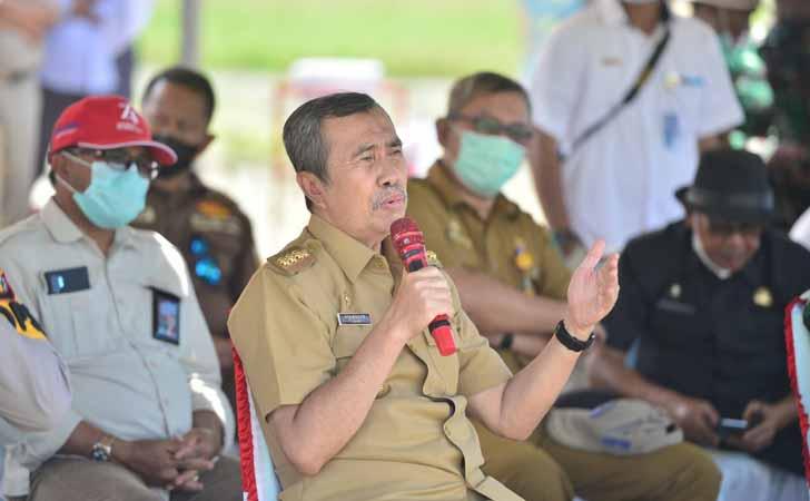 Gubernur Riau Syamsuar Panen Raya