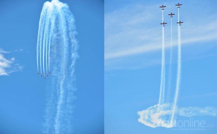 Aksi Aerobatik Jupiter Aerobatic Team (JAT) di Langkawi
