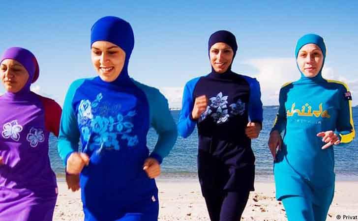 Burkini Perempuan Berenang