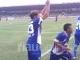 Pemain PSPS Sukacita Rayakan Gol