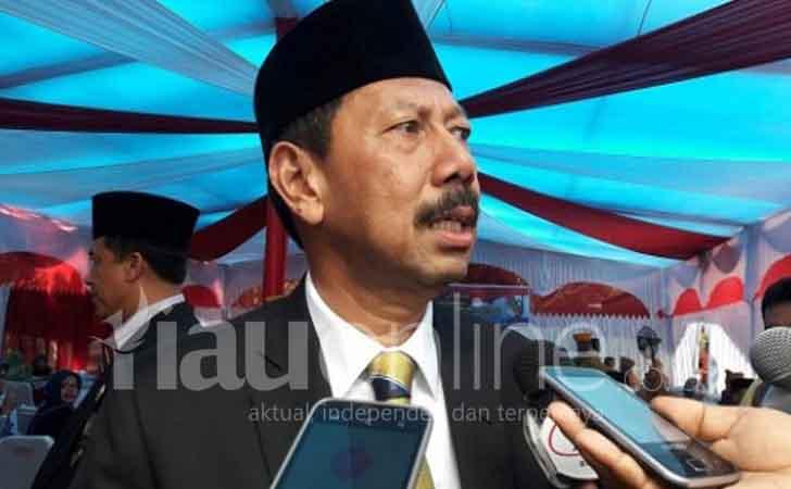 Pelantikan Edwar Sanger sebagai Plt Wali Kota Pekanbaru