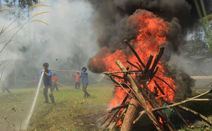 RAPP Latih Relawan Pemadam Karhutla