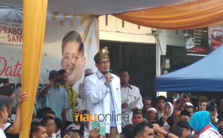 Sandiaga Uno di Depan Kader PKS Riau