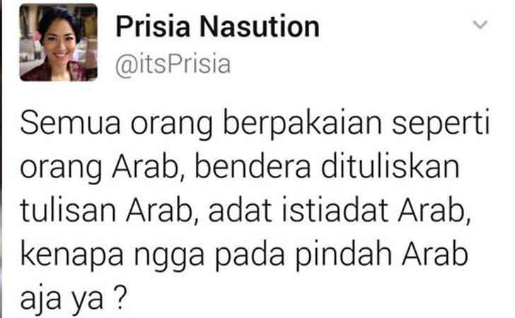 Status Prisia Nasution