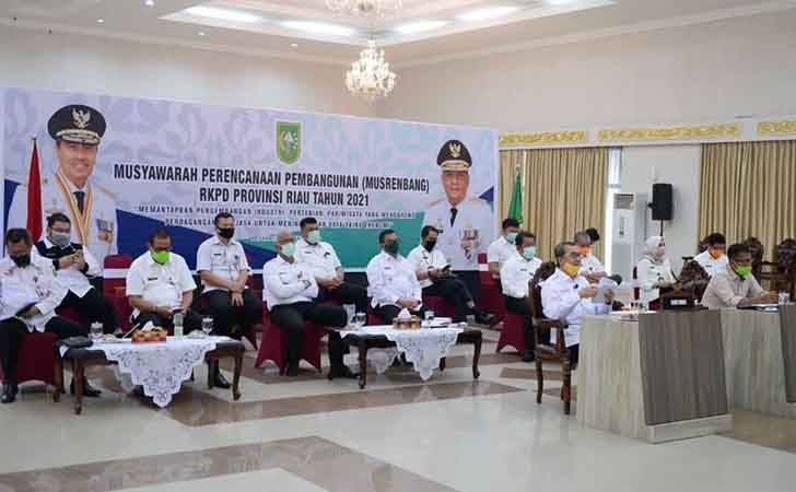 Video Conference Musrenbang Riau