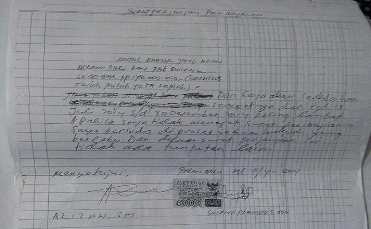 surat perjanjian