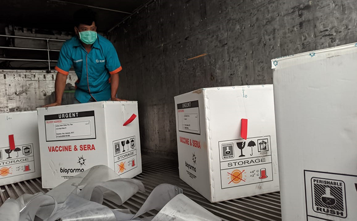 vaksin covid-19 tiba di Pekanbaru6