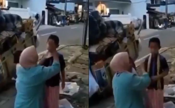 Pemulung-pakaikan-baju-rapi-ke-anaknya-sebelum-ke-masjid.jpg