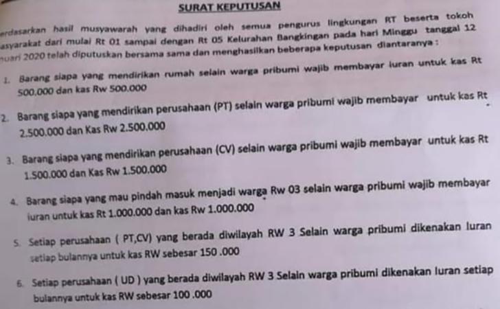 Surat-Edaran-RW-03-Bangkingan-Surabaya-soal-iuran-bagi-nonpribumi.jpg